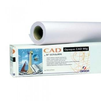 PAPEL OPACO PARA CAD DE 90 GR. HOJA DE 841X1189 125 HOJAS CANSON