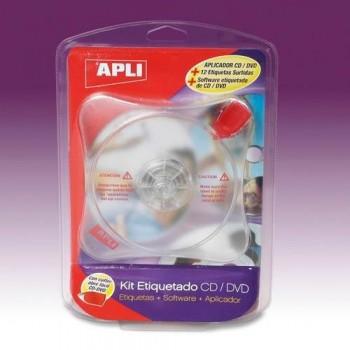 KIT DE ETIQUETADO CD/DVD + SOFTWARE APLI