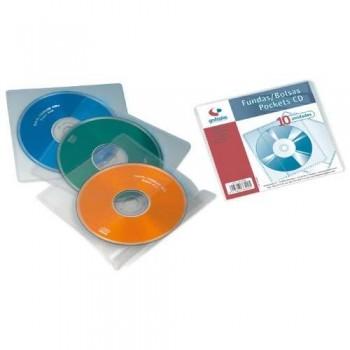 FUNDAS CD 1/8 PP LISO 110 MICRAS BOLSA 10 UNIDADES GRAFOPLAS