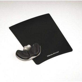 REPOSAMUÑECAS FOAM DESLIZANTE CON CANAL ERGONÓMICO HEALTH COLOR NEGRO FELLOWES