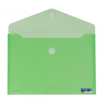 SOBRE A4+ PP CIERRE DE VELCRO 335 X250 MM VERDE OFFICE BOX