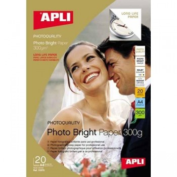 PAPEL FOTOGRÁFICO PHOTO BRIGHT A4 300 GR. CANTIDAD 20H