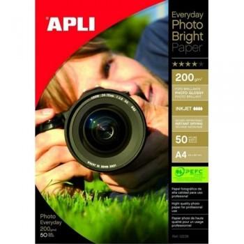PAPEL FOTO A4 200 GR. 50 HOJAS EVERYDAY PHOTO APLI