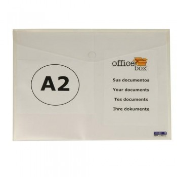 SOBRE A2 PP CIERRE DE VELCRO 610X435 MM CRISTAL OFFICE BOX