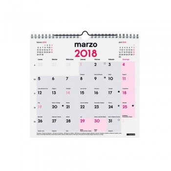 CALENDARIO PARED ESCRIBIR M 265X245MM. DOBLE ESPIRAL CASTELLANO FINOCAM