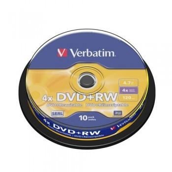 DVD +RW 4.7GB 4X BOBINA 10 UN. ADVANCED SRL VERBATIM