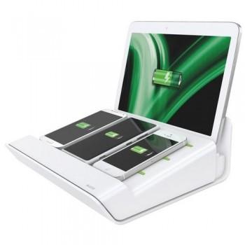 MULTICARGADOR XL PARA 1 TABLETA Y 3 SMARTPHONES BLANCO LEITZ COMPLETE