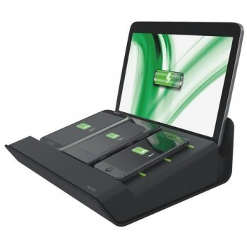 MULTICARGADOR XL PARA 1 TABLETA Y 3 SMARTPHONES NEGRO LEITZ COMPLETE