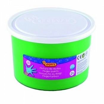 PINTURA DEDOS BOTE 500 ML. COLOR VERDE JOVI