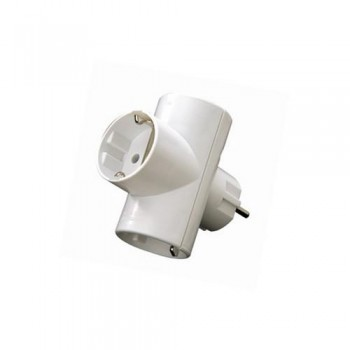ADAPTADOR ENCHUPE TRIPLE BLANCO