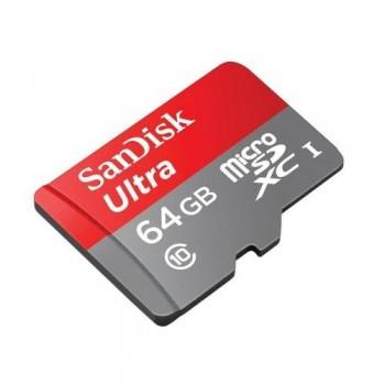 TARJETA MEMORIA MICRO SECURE DIGITAL ULTRA 64 GB. CLASS 10 SANDISK