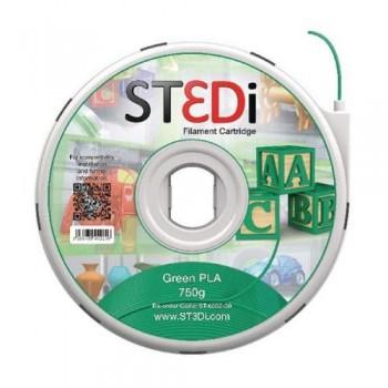 FILAMENTO PARA IMPRESORA 3D ST3DI VERDE 750G PLA