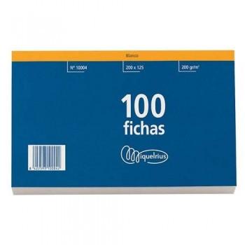 FICHAS 75 X 125 HORIZONTAL CON CABECERA ROJA MIQUEL RIUS