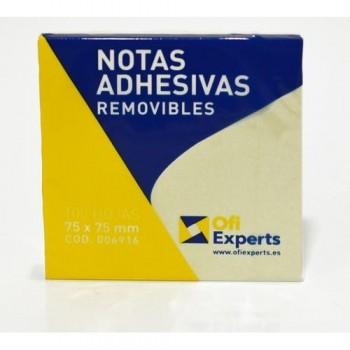 NOTAS ADHESIVAS 75X75 MM 100 HOJAS OFIEXPERTS