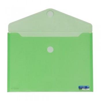 SOBRE A4+ PP CIERRE DE VELCRO 335 X250 MM VERDE OFFICE BOX