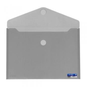 SOBRE A4+ PP CIERRE DE VELCRO 335 X250 MM GRIS OFFICE BOX