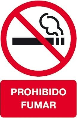 ETIQUETAS APLI SEÑAL PROHIBIDO FUMAR CRISTAL