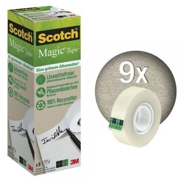 CINTA ADHESIVA 19MM X 33M ECOLÓGICA PACK 9 SCOTCH MAGIC 900