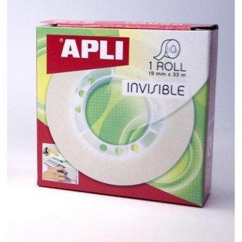 CINTA ADHESIVA INVISIBLE 33MX19 MM APLI