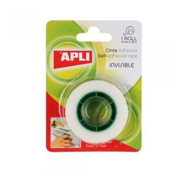 CINTA ADHESIVA INVISIBLE EN ROLLO 19 MM. X 33 M.