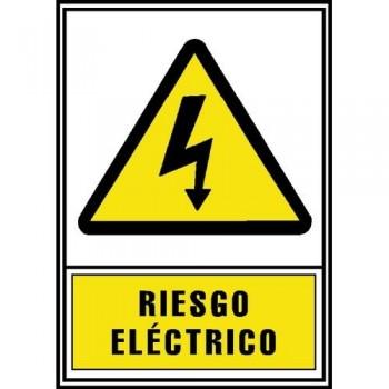 SEÑAL PVC NORMALIZADA RIESGO ELÉCTRICO 210X297 AMARILLO ARCHIVO 2000