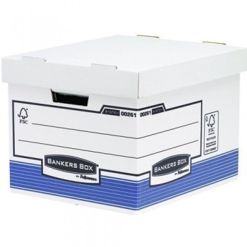 CONTENEDOR ARCHIVO AUTOMONTABLE A4 BANKERS BOX BLANCO AZUL FELLOWES