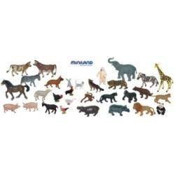 MINILAND ANIMALES GRANJA - SALVAJES 30 UDS