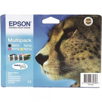 EPSON CARTUCHO TINTA T0715 RAINBOW PACK C13T07154010