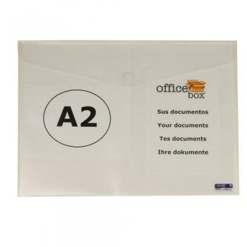 SOBRE A2 PP CIERRE DE VELCRO 610X435 MM CRISTAL OFFICE BOX