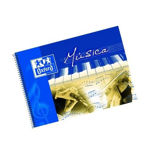 CUADERNO MÚSICA 1/4 APAISADO 20 HOJAS 8 PENTAGRAMAS INTERLINEADO 2MM OXFORD