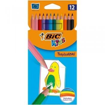 Lápices colores de resina Tropicolors 2 12u surtidos