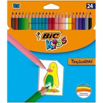 Lápices colores de resina Tropicolors 2 24u surtidos