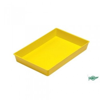BANDEJA MULTIUSO COLOR AMARILLO CÓNICA APILABLE 230X145X30 MM FAIBO