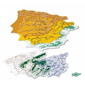MAPAS ESPAÑA CON BOLSA 3 UN. 15X12,5CM FAIBO