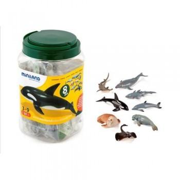 Figuras plástico 8 un. Animales marinos Miniland