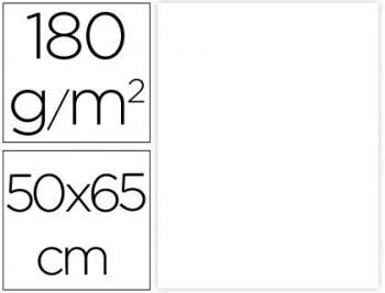CARTULINA 50X65CM. 180GR. BLANCO PAQ. 25 HOJAS