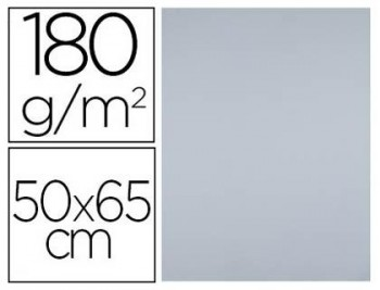 CARTULINA 50X65 GRIS PAQ25