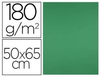 CARTULINA 50X65CM. 180GR. VERDE OSCURO PAQ. 25 HOJAS