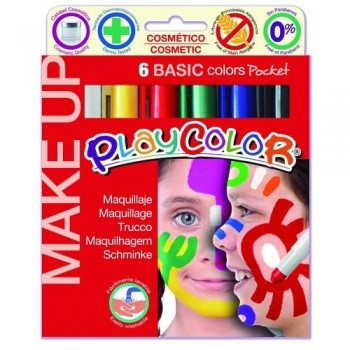 MAQUILLAJE 6 COLORES SURTIDOS PLAYCOLOR MAKE UP BASIC POCKET