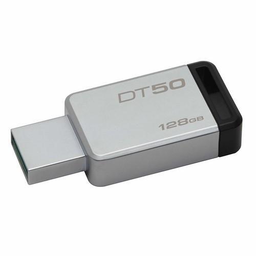 MEMORIA USB 128GB 3,0 CARCASA METÁLICA NEGRO KINGSTON DATATRAVELER