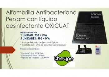 ALFOMBRILLA  ANTIBACTERIANA CON LIQUIDO DESIFECTANTE