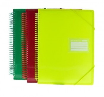 CARPETA DINA4 40FUNDAS ESPIRAL COLOR LINE FRAGA