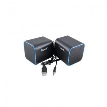 ALTAVOCES HAVIT PC USB+ JACK 6W AZUL