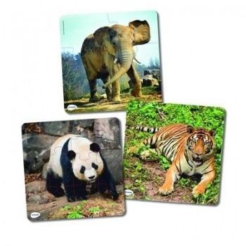 MINILAND SET  3 PUZZLES ANIMALES