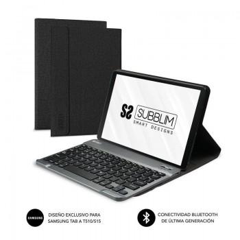 Funda con Teclado Subblim Keytab Pro Bluetooth para Tablets de 10.1\c/ Negra