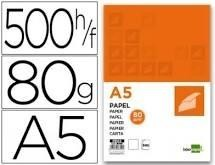 PAPEL DINA5 80GR PAQ500 BLANCO MULTIFUNCION