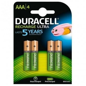 PILAS DURACELL RECARGABLE AAA HR03 900MAH PACK 4