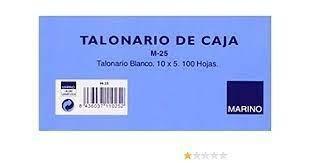 TALONARIO CAJA M-25