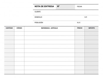 TALONARIO NOTA ENTREGA 1/8 TRIPLICADO A54