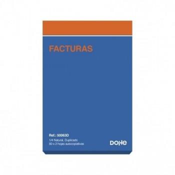 TALONARIO FACTURAS 1/4 DUPLICADO NATURAL A63 (71D)